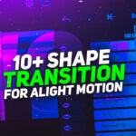 Alight Motion Shape Transition Pack Download